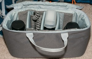 Adjustable dividers make the camera cases very adaptable